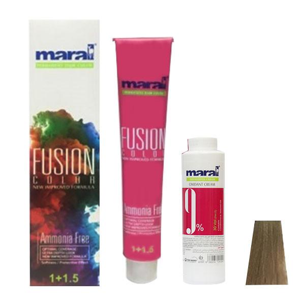 کیت رنگ مو مارال مدل Fusion شماره 8.00 حجم 100 میلی لیتر رنگ قهوه ای بلوند روشن اکسترا
