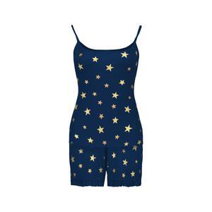 ست تاپ و شلوارک زنانه افراتین طرح ستاره کد 6531 رنگ سرمه ای