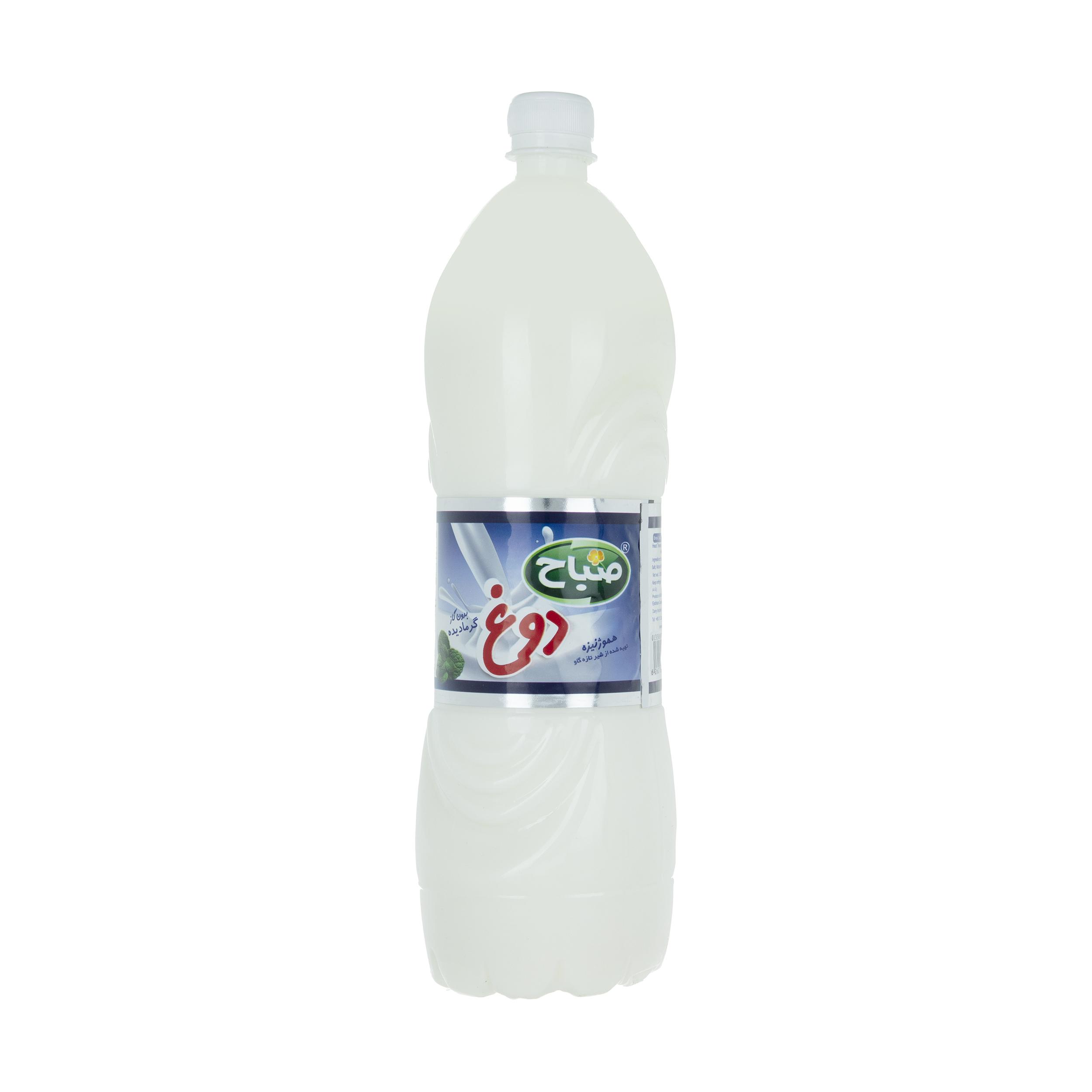 دوغ بدون گاز  با طعم نعناع صباح - حجم 1.5 لیتر