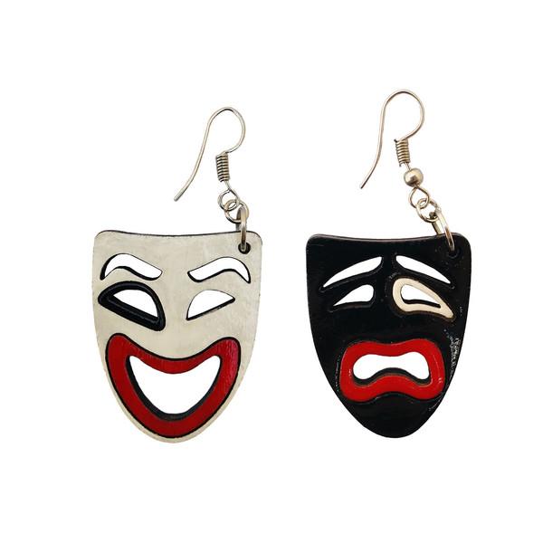 گوشواره زنانه طرح اشک و لبخند کد 012