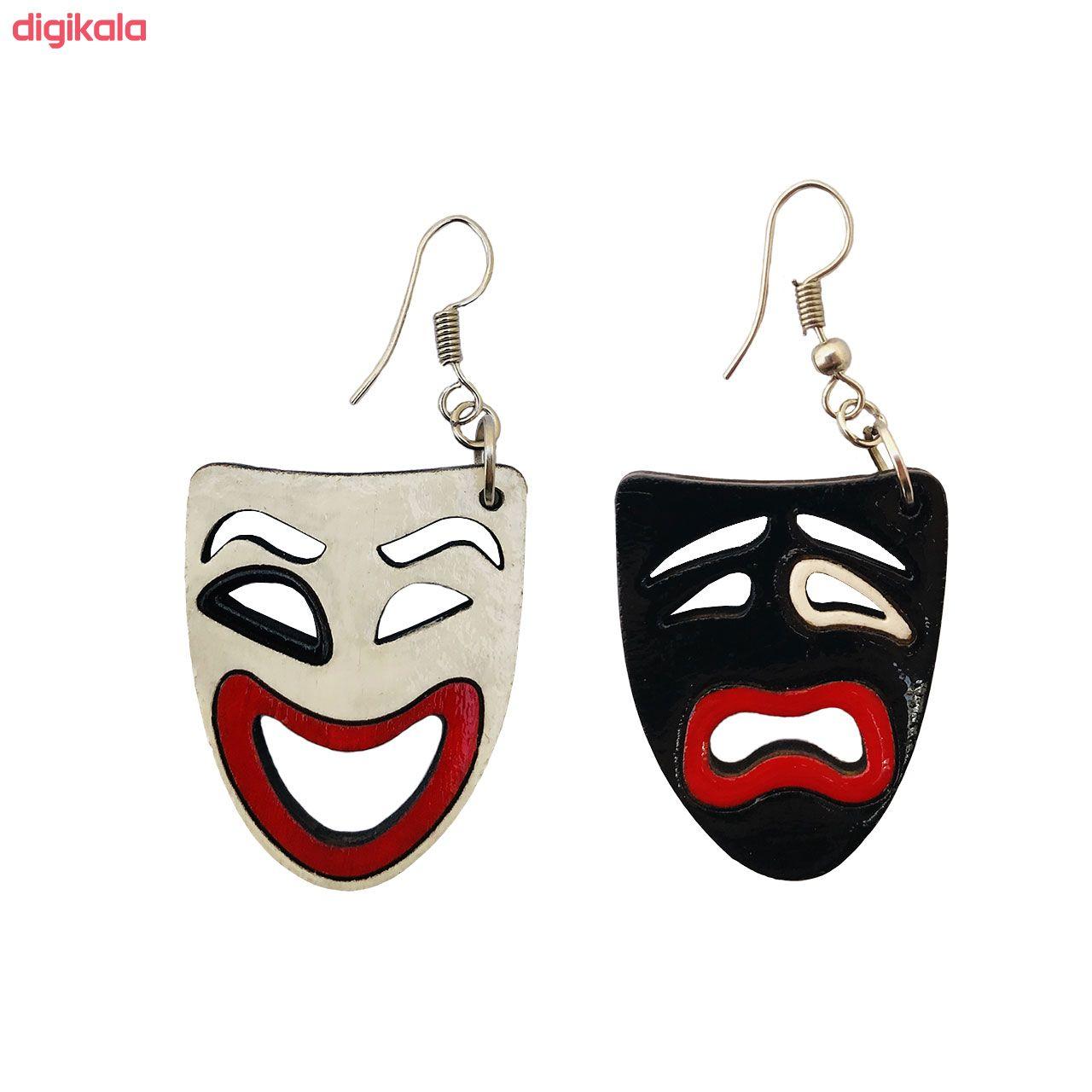 گوشواره زنانه طرح اشک و لبخند کد 012 main 1 1