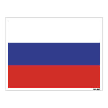 استیکر مستر راد طرح پرچم روسیه مدل HSE 193