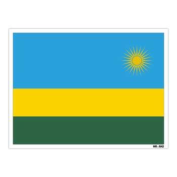 استیکر مستر راد طرح پرچم رواندا مدل HSE 194
