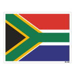 استیکر مستر راد طرح پرچم آفریقای جنوبی مدل HSE 208