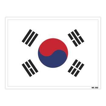 استیکر مستر راد طرح پرچم کره جنوبی مدل HSE 209