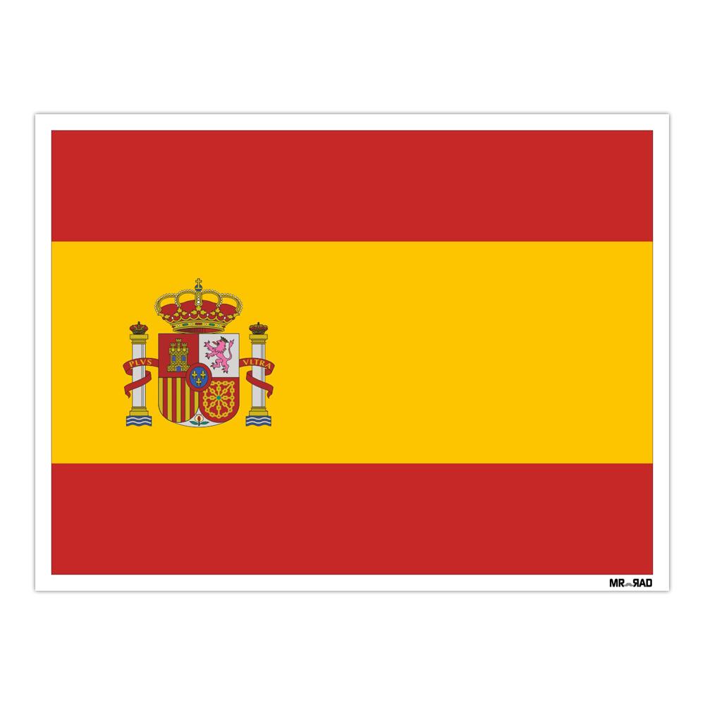 استیکر فراگراف FG طرح پرچم اسپانیا مدل HSE 210