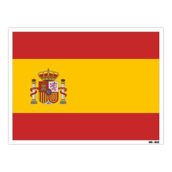 استیکر مستر راد طرح پرچم اسپانیا مدل HSE 210