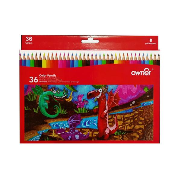 مداد رنگی 36 رنگ اونر طرح سرزمین اژدها مدل 141636