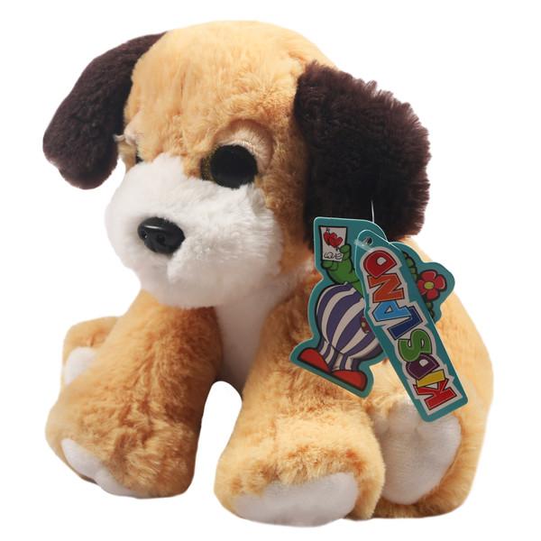 عروسک کیدزلند طرح سگ چشم درشت کد JR-156-2 ارتفاع 14 سانتی متر