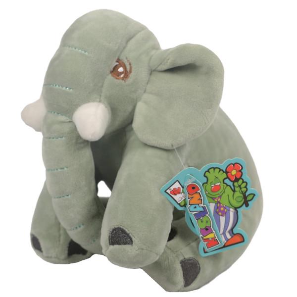 عروسک کیدزلند طرح فیل نرمالو کد MJ-139 ارتفاع 21 سانتی متر