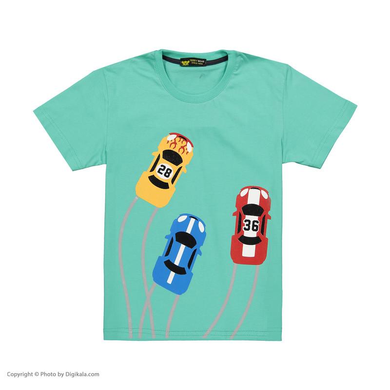 ست تی شرت و شلوارک پسرانه خرس کوچولو مدل 2011123-53