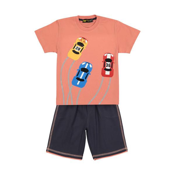 ست تی شرت و شلوارک پسرانه خرس کوچولو مدل 2011123-86