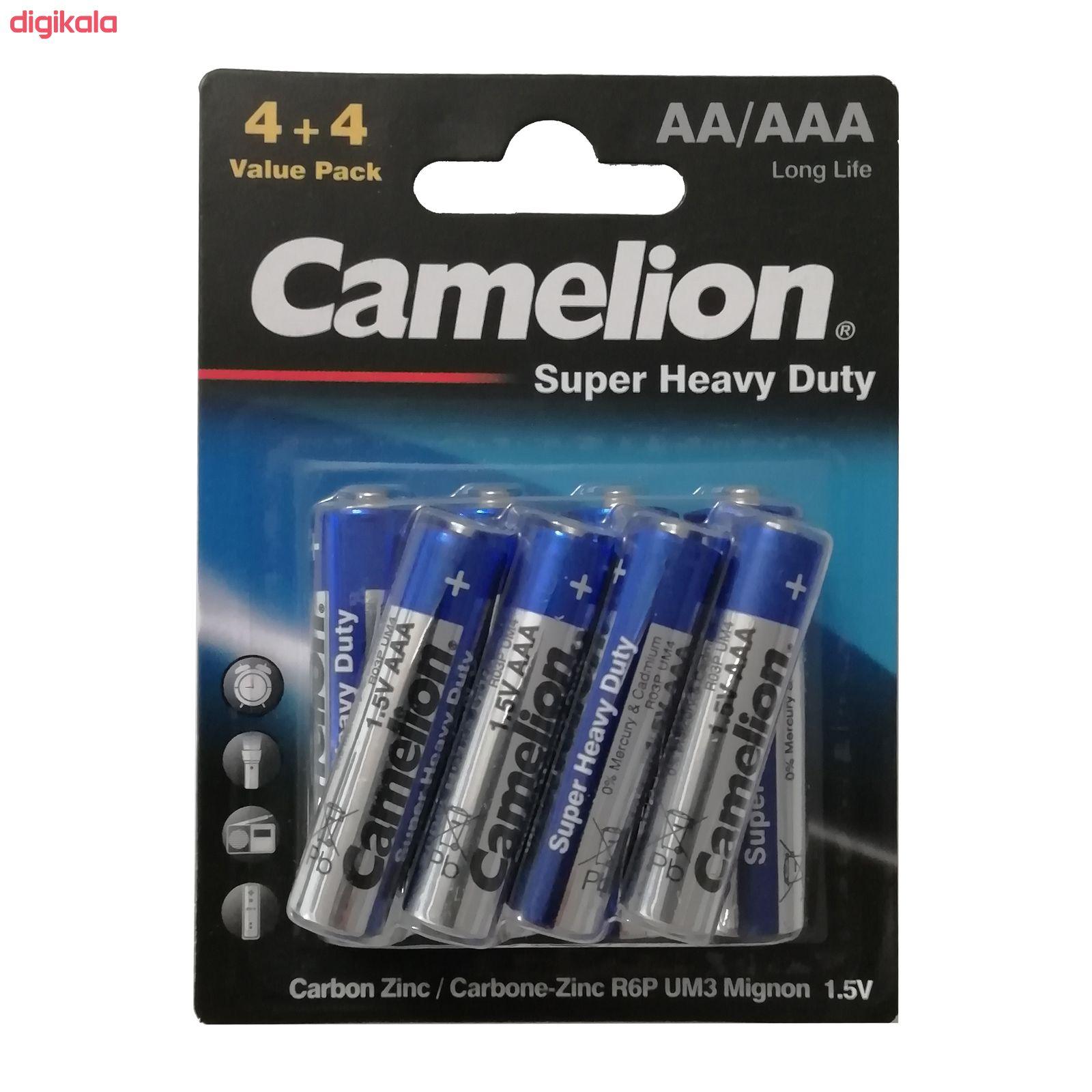 باتری قلمی و نیم قلمی کملیون مدل Super Heavy Duty بسته 8 عددی main 1 2