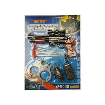 تفنگ بازی مدل پلیسی مجموعه 5 عددی