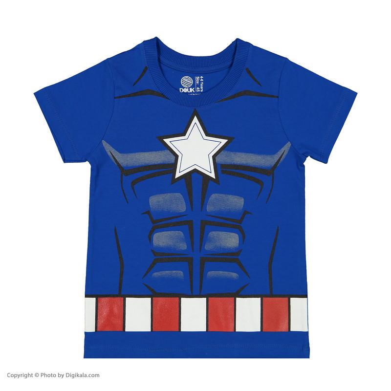 ست تی شرت و شلوارک پسرانه سون پون مدل 1391306-55
