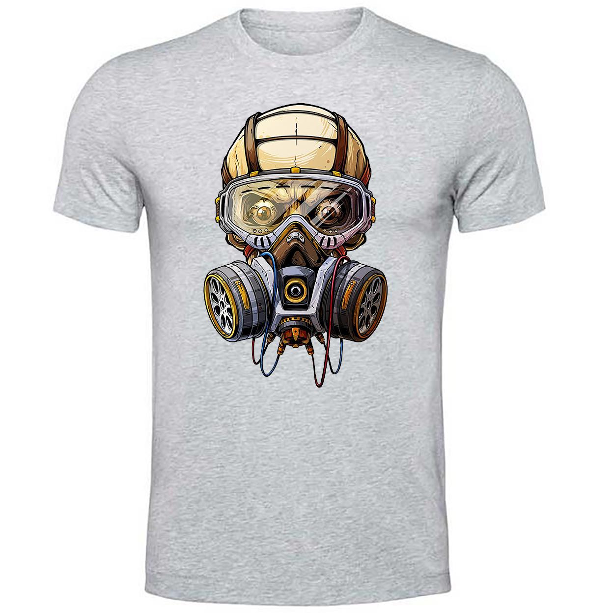 خرید ارزان تی شرت مردانه طرح صورت ماسک دار کد sm2