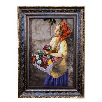 تابلو فرش دستبافت طرح گل فروش کد ۲۶۹۷۴۸۷