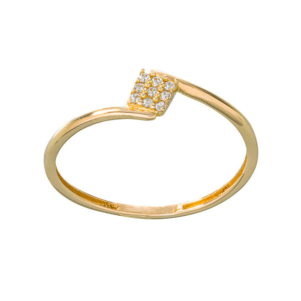 انگشتر طلا 18 عیار زنانه جواهری سون مدل 2471