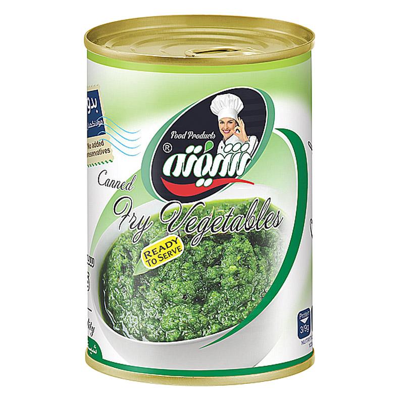 کنسرو سبزی سرخ شده قورمه سبزی شیفته - 370 گرم