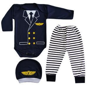 ست 3 تکه لباس نوزاد کد PI99