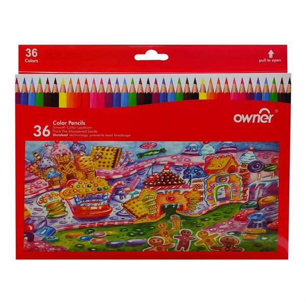 مداد رنگی 36 رنگ اونر طرح شهر بیسکویتی مدل 141636