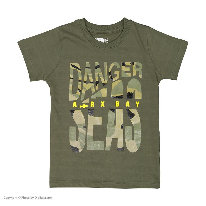 ست تی شرت و شلوارک پسرانه سون پون مدل 1391293-49