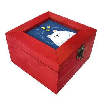 جعبه هدیه چوبی کد A75