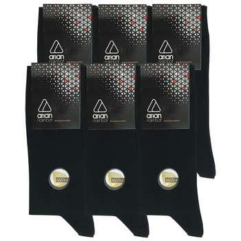 جوراب مردانه آریان نخ باف کد 53217 بسته 6 عددی