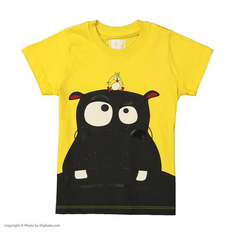 ست تی شرت و شلوارک پسرانه سون پون مدل 1391291-16