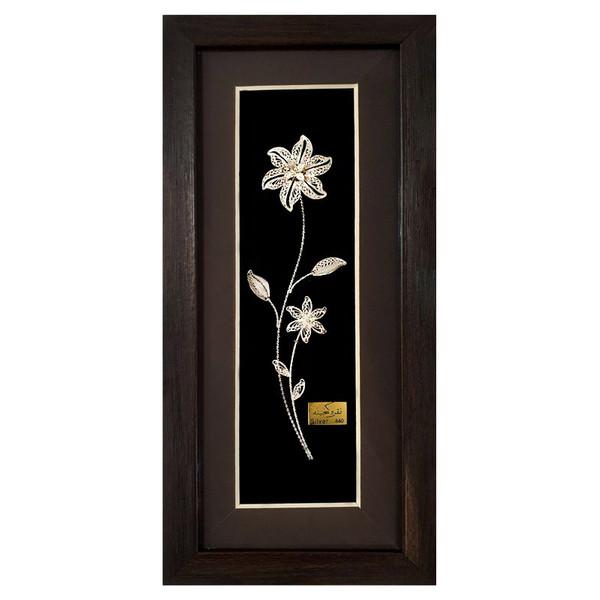 تابلو نقره گنجینه طرح گل مدل ST-W01