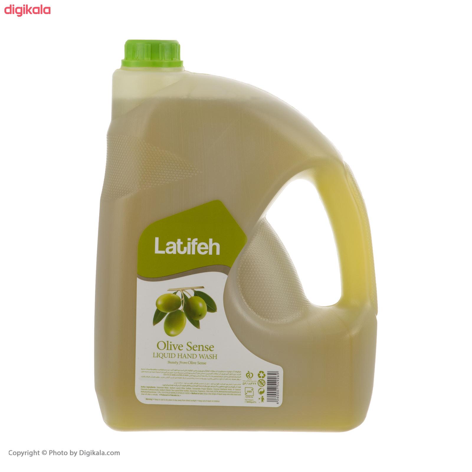 مایع دستشویی لطیفه مدل Olive Sense وزن 3.8 کیلوگرم main 1 1