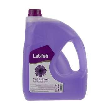 مایع دستشویی لطیفه مدل  Violet Flower وزن 3.8 کیلوگرم