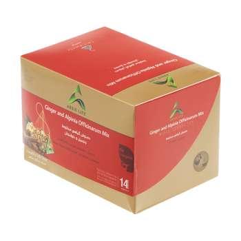 دمنوش گیاهی مخلوط آرسیس با طعم زنجبیل و خولنجان - بسته 14 عددی