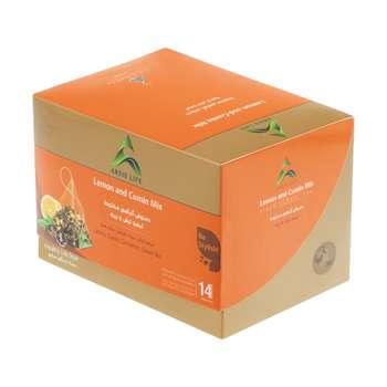 دمنوش گیاهی مخلوط آرسیس با طعم لیمو ترش و زیره - بسته 14 عددی
