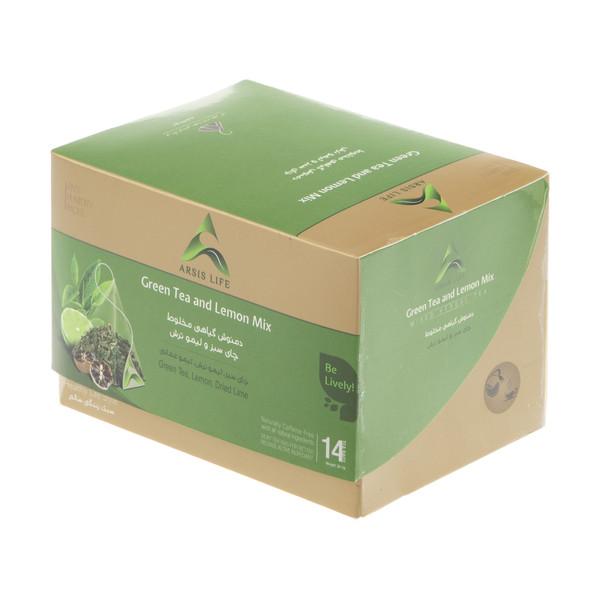 دمنوش گیاهی چای سبز و لیمو ترش آرسیس - بسته 14 عددی