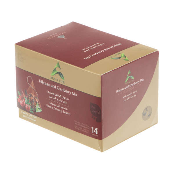 دمنوش گیاهی چای ترش و کرن بری آرسیس - بسته 14 عددی