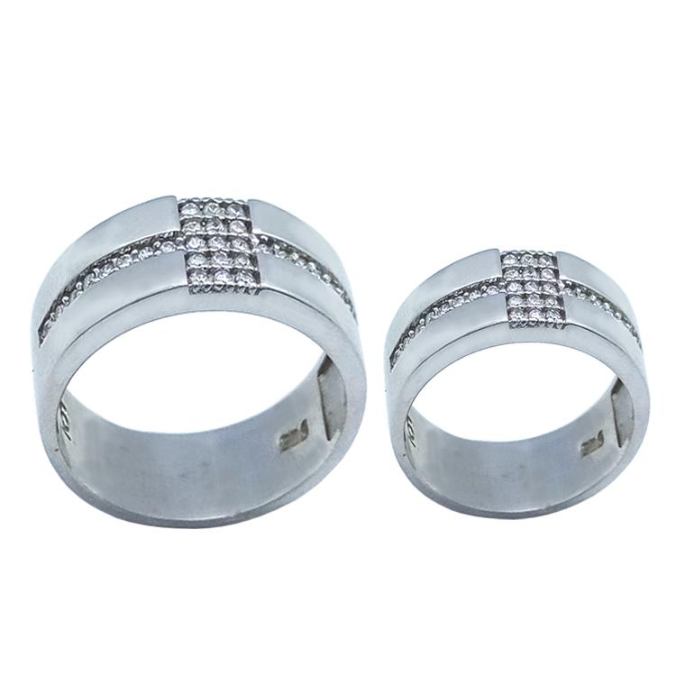 ست انگشتر نقره زنانه و مردانه کد TSVR0014