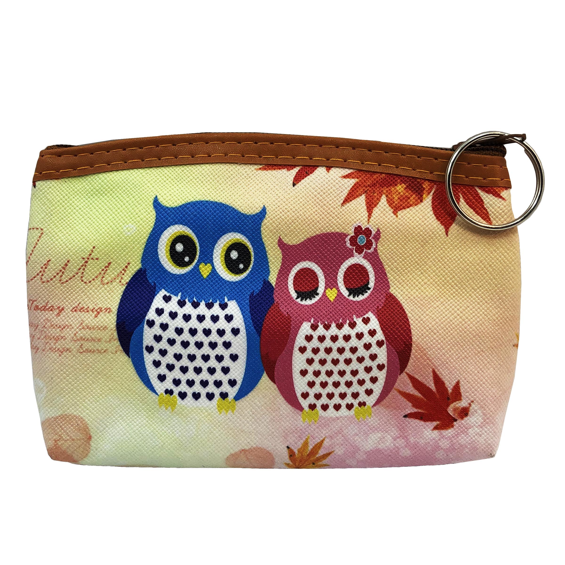 کیف پول دخترانه طرح Owls Couple