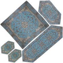 ست 5 تکه رومیزی ترمه شوکران یزد مدل شاه عباسی کد BI5-5