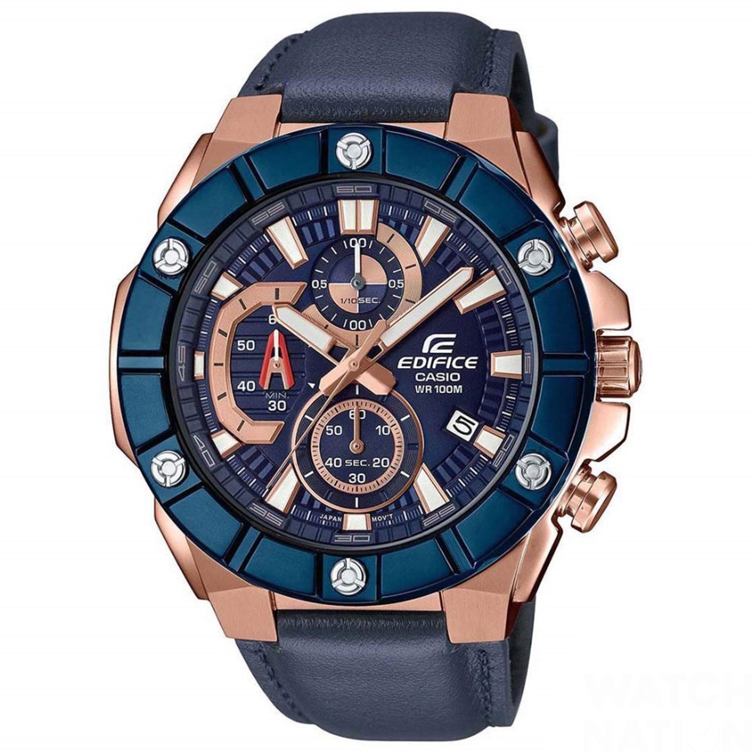 ساعت مچی عقربه ای مردانه کاسیو مدل EFR-569BL-2AVUDF              خرید (⭐️⭐️⭐️)
