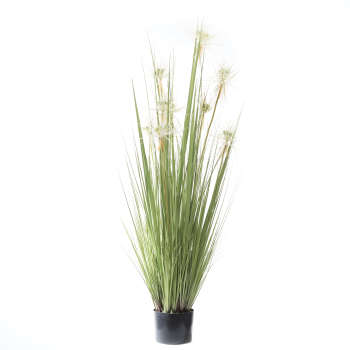گلدان به همراه گل مصنوعي طرح گل مرداب مدل 294