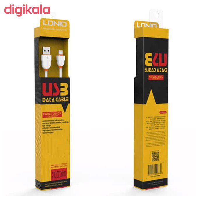کابل تبدیل USB به microUSB الدینیو مدل LS02 طول 2 متر main 1 6