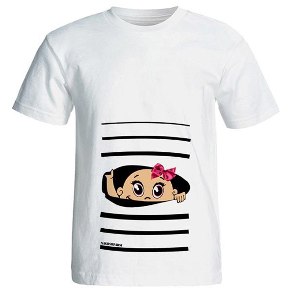 تی شرت بارداری طرح Girl کد 3993 NP