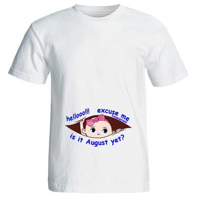 Photo of تی شرت بارداری طرح hellooo کد 3996 NP
