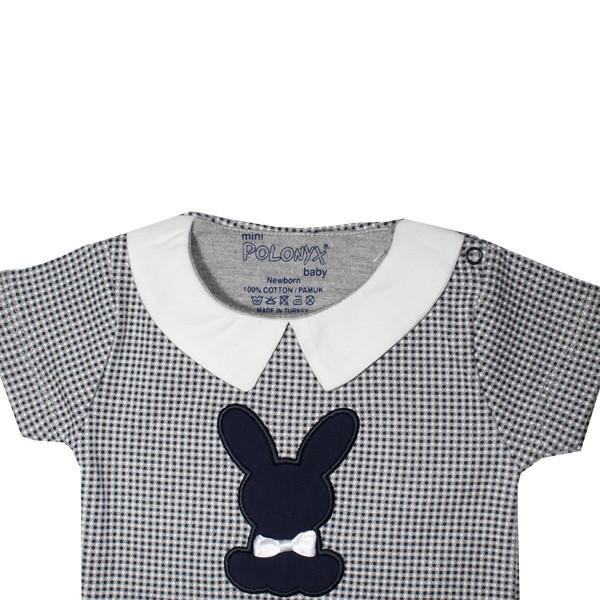 تی شرت آستین کوتاه نوزادیپولونیکس طرح ربیت کد 17-11901