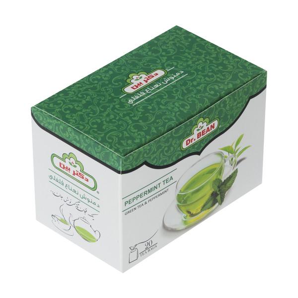 دمنوش چای سبز و نعنا فلفلی کیسه ای دکتر بین بسته 20 عددی