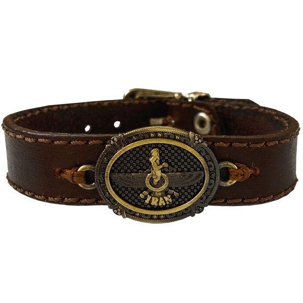 دستبند چرم وارک مدل پرهام کد rb38