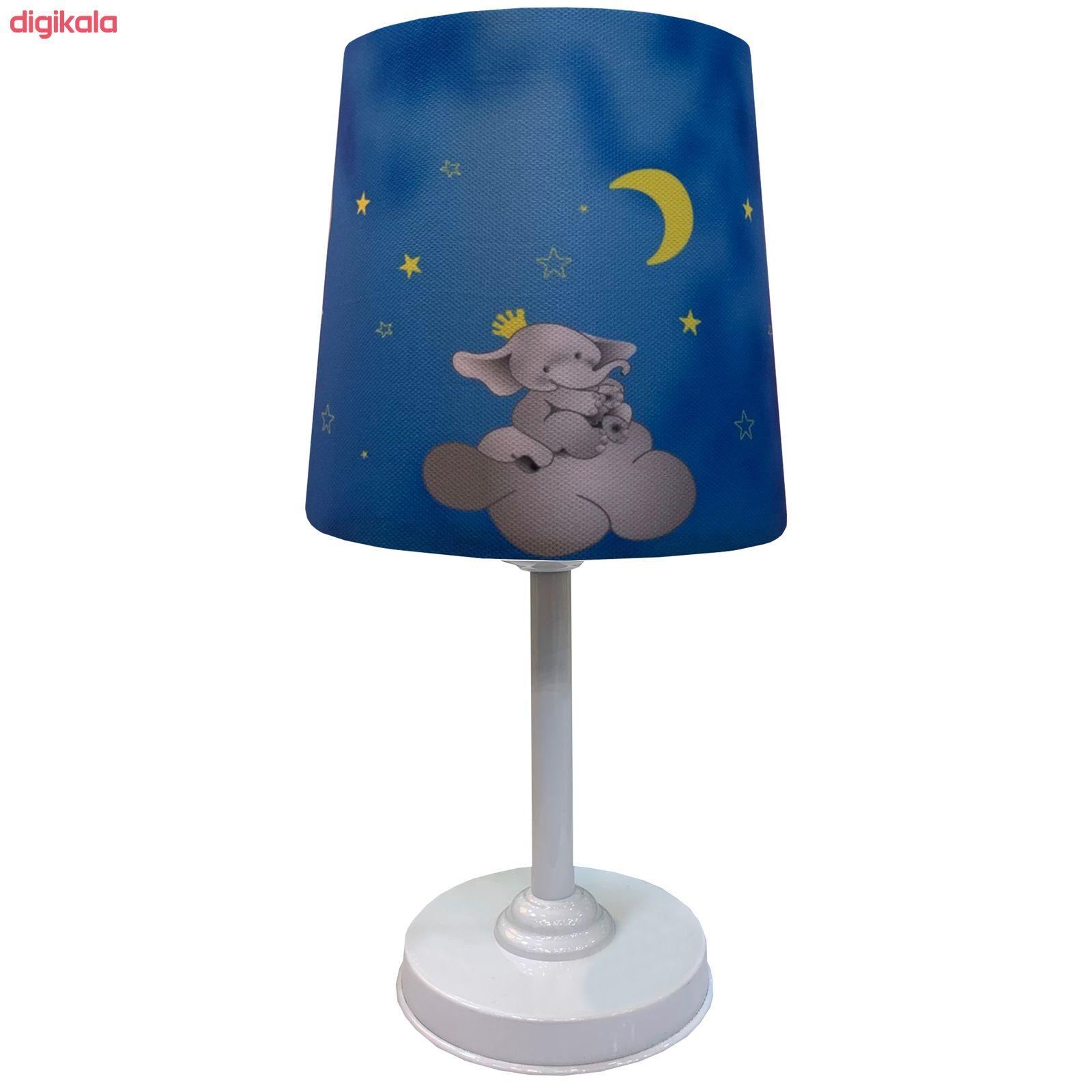 چراغ رومیزی کودک مدل فیل و تاج به همراه چراغ آویز