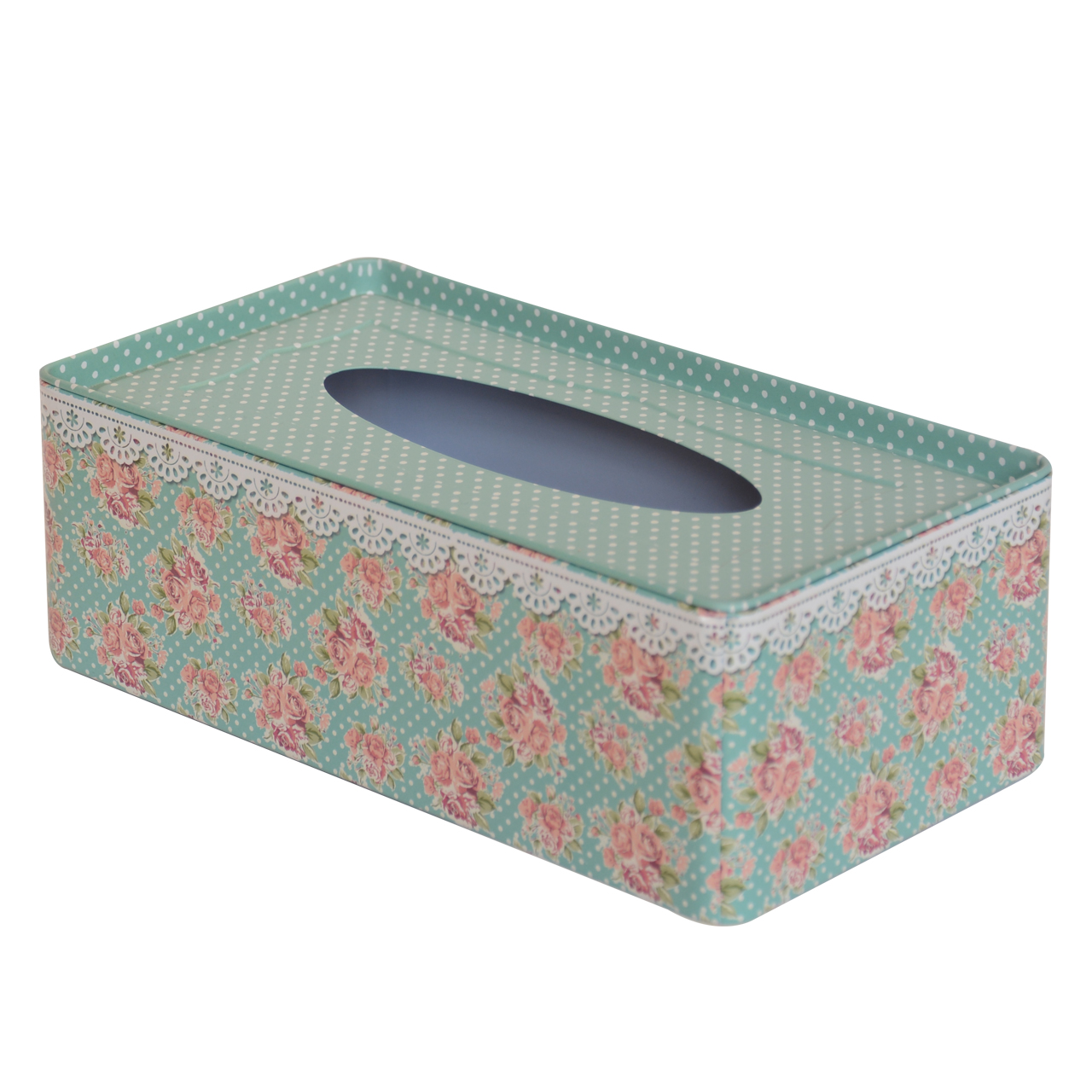 جعبه دستمال کاغذی مدل گل ریز کد JDM01