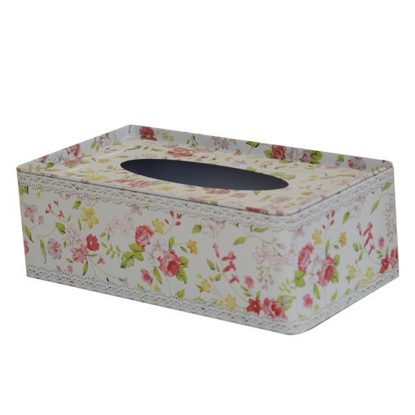 جعبه دستمال کاغذی مدل گل ریز کد JDM02